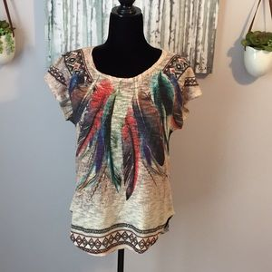 Tops - Beaches Feather-detailed top